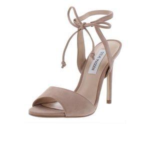 Steve Madden Lunar blush tie heels 8